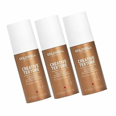 3x GOLDWELL ROUGHMAN  MATTIERENDE CREME PASTE 3X 100ML