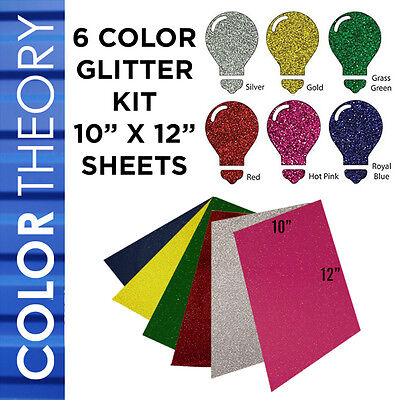 "Heat Transfer Vinyl 10""X12"" 6-COLOR STARTER BUNDLE Tshirt Iron On Heat Press"