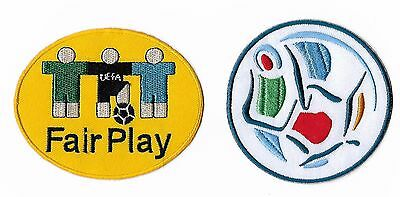 Euro 96 Fair Play 1996 Football Patch Set Embroidered Iron on Soccer Badges RARE
