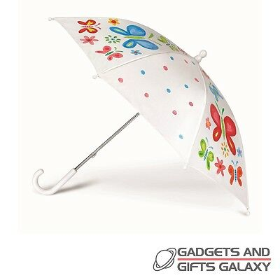DESIGN YOUR OWN UMBRELLA PAINT IT YOURSELF & STENCILS toy gift craft childs kids
