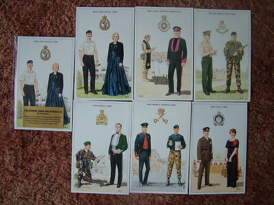THE BRITISH ARMY SERIES - THE SUPPORT ARMS & SERVICES (4).  6 card set. Mint.