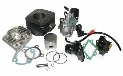 50cc CILINDRO TESTA + CARBURATORE KIT COMPLETO per KEEWAY F-ACT NKD 50
