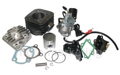 50cc CILINDRO TESTA + CARBURATORE KIT COMPLETO per KEEWAY RY6 50 AC scooter