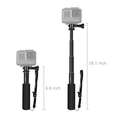 Luxebell Selfie Stick Telescopic Pole Pocket Purse Size with Phone Clip Holder f