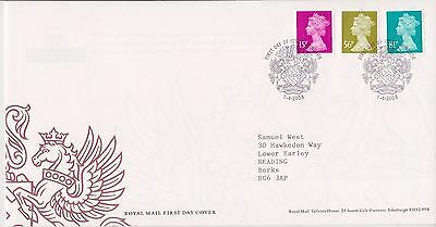 GB ROYAL MAIL FDC FIRST DAY COVER 2008 MACHIN DEFINITIVES 15p - 81p WINDSOR PMK