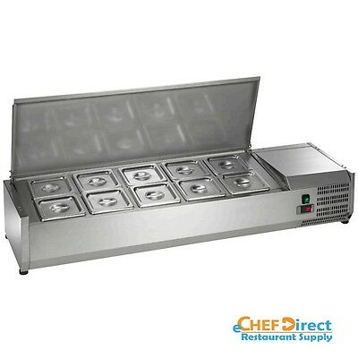 """Arctic Air ACP55 55"""" Refrigerated Countertop Condiment Prep Station"""