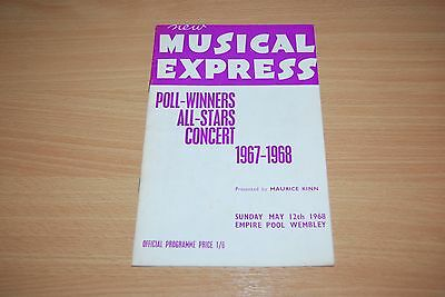 ROLLING STONES-VERY RARE 1967-1968 NME POLL WINNERS CONCERT PROGRAMME Status Quo