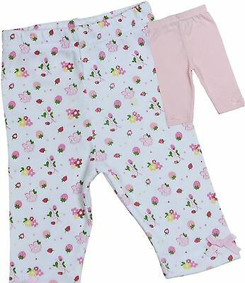 BabyPrem Baby Girls Clothes 2 Pairs Cotton Leggings Trousers Bottom NB - 6m