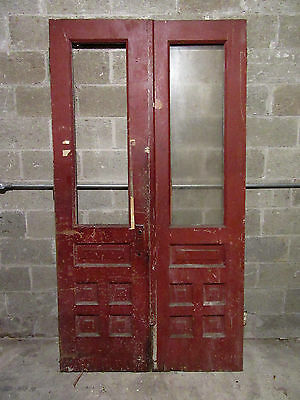 ~ Antique Double Entrance French Doors ~ 47 X 87 ~ Architectural Salvage