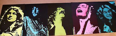 Rare Vintage LOT OF 5 DEEP PURPLE 1972 PROMOTIONAL POSTERS Ritchie Blackmore