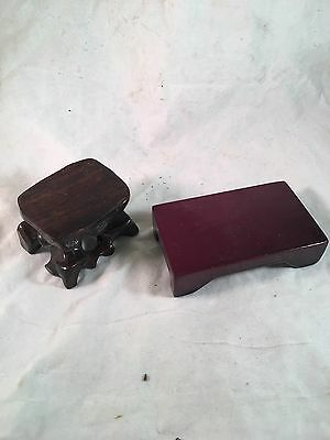 Display Stands Wooden Hand Crafted Lot Collectibles Arts Crafts Display