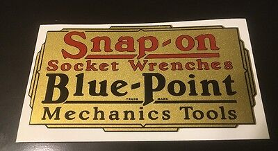 Snap-on Socket Wrenches Blue-Point Decal restore tool boxes vintage rat rod 4""