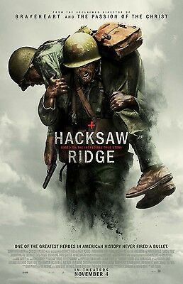 "HACKSAW RIDGE ""B"" 13.5x20 PROMO MOVIE POSTER"