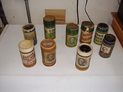 Edison Phonograph Cylinder Record's  Amberol  Lot of