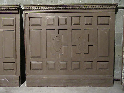 ~ 2 Pieces Antique Carved Walnut Paneling Wainscotting~ 9 Feet ~ Salvage