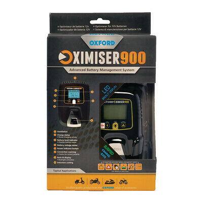 OXFORD OXIMISER OX 900 Bike Car Motorcycle BATTERY TRICKLE CHARGER MAXIMISER