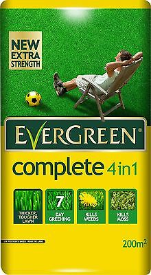 7 kg Bag EverGreen Complete 4-in-1 Care Lawn Feed Weed and Moss Killer 200sqm