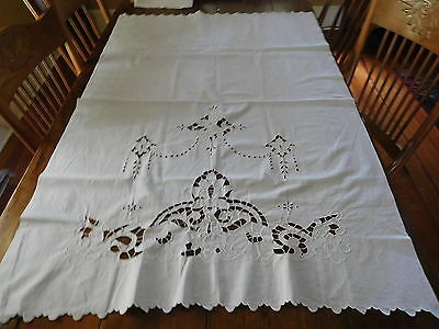 3-3017-Baby Cover- Sheet-Cut Work With Buttonhole Stitch-Very Good-Lqqqkiee
