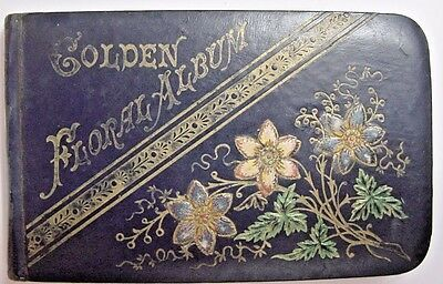 Antique Autograph Book-1884-Embossed Leather Covers