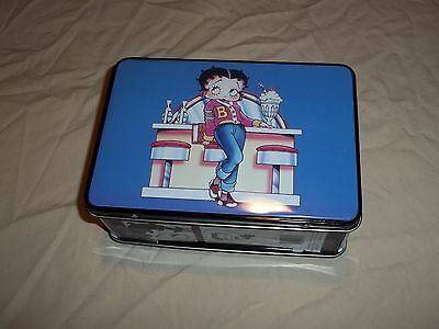 "Betty Boop Metal Lunch Box 7"" X 5"" Excellent Condition No Rust 1996 Retired NWOT"