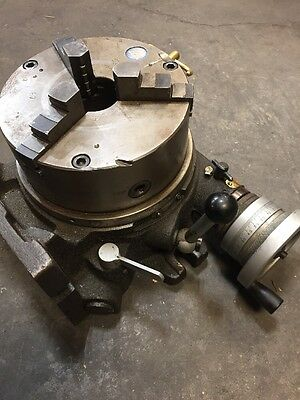 """8"""" Horizontal Vertical Rotary Table W/ 8"""" TOS 3 Jaw Chuck"""
