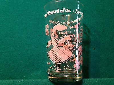Vintage  S & Co. Swift Peanut Butter Tumbler Glass Wizard of Oz Pink Dorothy