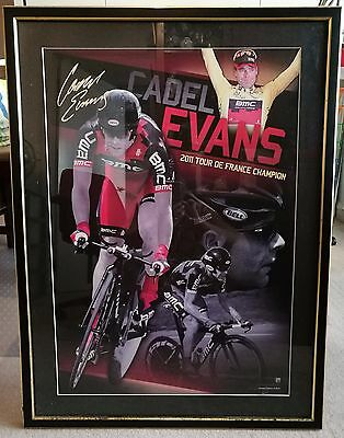 Framed Cadel Evans 2011 Tour De France Champion Authentic limited edition No1732