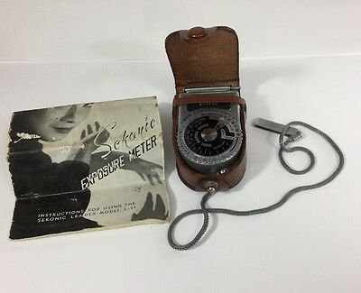 Vintage Sekonic Exposure Meter Model L-VI With Instructions And Case