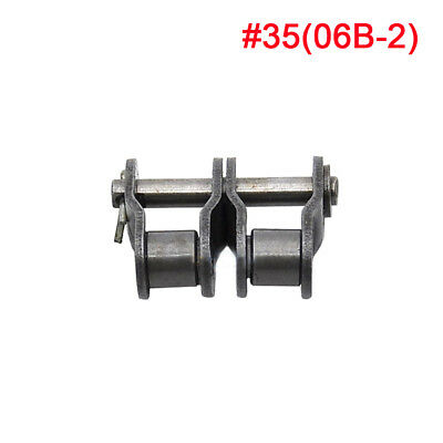 #35-2 Double Strand Roller Chain Connecting Link Half Link For 06B-2 Chain x2Pcs