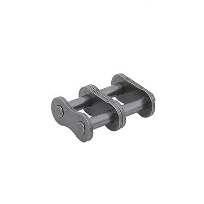 #40-2 Double Strand Roller Chain Connecting Link Full Link For 08A-2 Chain x2Pcs