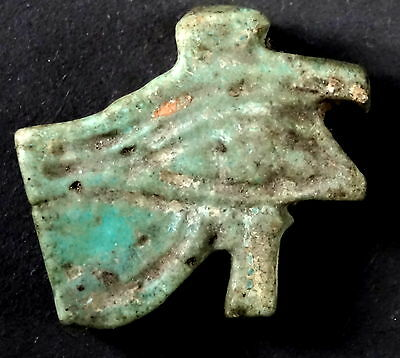 ▇ Nice Eye Horus/udjat/wedjat-Bead Faience Or Frite Glazed-Egyptian Late Period