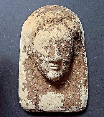 ▇ Mask Ex Voto Archaic Greek/phoenician Punic Terracotta- Earthy Clay Pink/beige