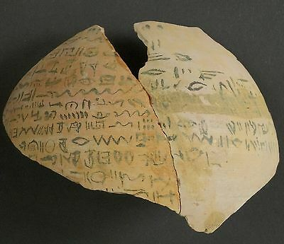 ▇Ostracon Primer Alphabet Semitic Epigraphy Proto-Sinaitic-Biblical Hebrew 11Bc