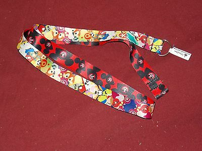 Authentic Disney Parks Character Pin Trading Mickey Mouse Lanyard New
