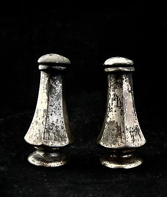 Vintage W B Mfg. Co. #2760 Patinated Silver Plate Salt And Pepper Shakers