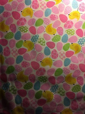 Easter Eggs And Chicks Stethoscope Cover -NEW- Handmade - FREE S&