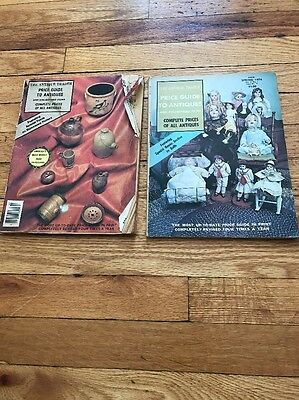 The Antique Trader Price Guide To Antiques 1974 Set Of Two