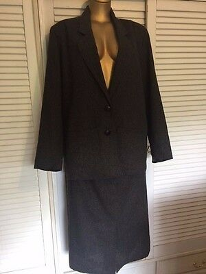 Tiggi by Julie Jones 1980s Wool Blend Size 16 Skirt & Jacket Suit