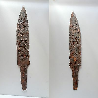 "▇Authentic Kurzsaxe Knife ""short Seax Forged Iron- Burgundy 6-7Th Cent-Sax Saxon"