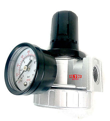 "1/2"" Air Pressure Regulator for Compressed Air Compressor w/ Gauge Max 150psi"