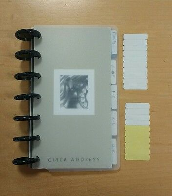 Levenger Circa Compact Address Notebook, 10 tab dividers, and L/XL discs