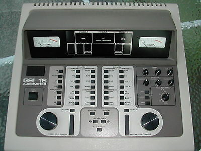 Grason-Stadler GSI 16 2 Channel Clinical Audiometer +NEW Display Very Bright