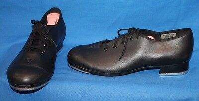 Women's BLOCH Black Leather Oxford Style Tap Shoes Techno Tap Shoes Size 6.5