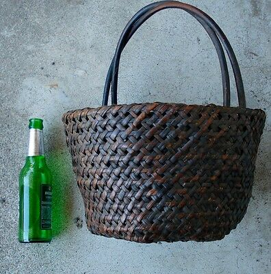 N. Philippines antique tribal basket collection,6 baskets ,Ifugau,good patinas