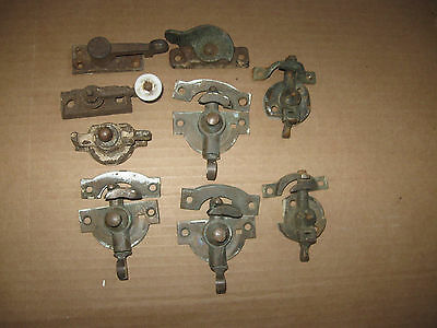 Lot Of Antique Window Latches Salvaged For Parts Or Restoration AS IS