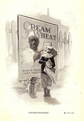 1924 Cream of Wheat: Counting His Pennies (23348)