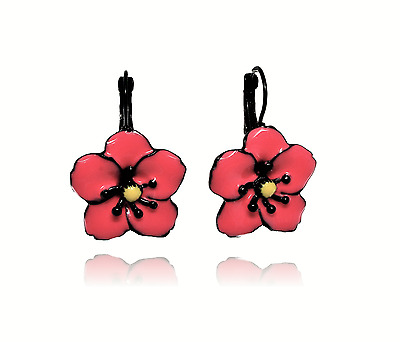Earrings poppy coral lol bijoux creator Paris