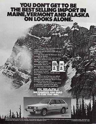 1981 Subaru: Best Selling Import in Maine, Vermont and Alaska (17618)