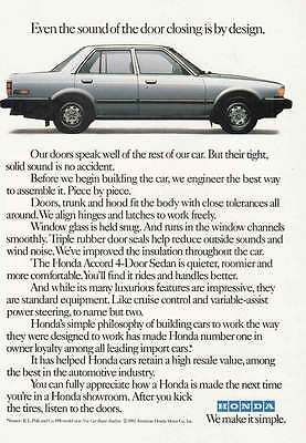 1982 Honda Accord: Even the Sound of the Door Closing (20684)