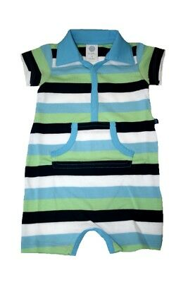 SANETTA Baby Overall / Players Organic Cotton Striped Short-Sleeved NEW